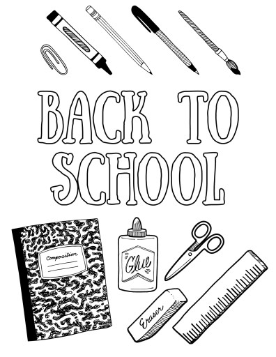 Back to School Gear Coloring Page