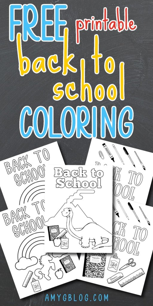 Get your kids ready for back to school with these back to school and first day of school printable coloring pages! #firstdayofschool #backtoschoolprintables #freeprintables #kidsprintables #printablecoloingpages