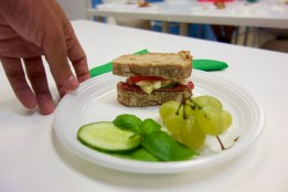 Our entry to the sandwich making contest from goods purchased at Central Market Hall