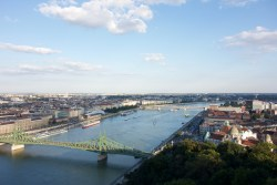 Both sides of the city + the Danube - view from the climb up Gellért Hill