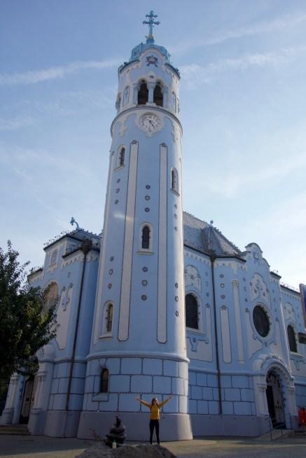 The Blue Church in Bratislava