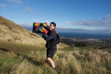 Too windy even for kites