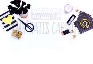Black And White Desktop Stock Photo