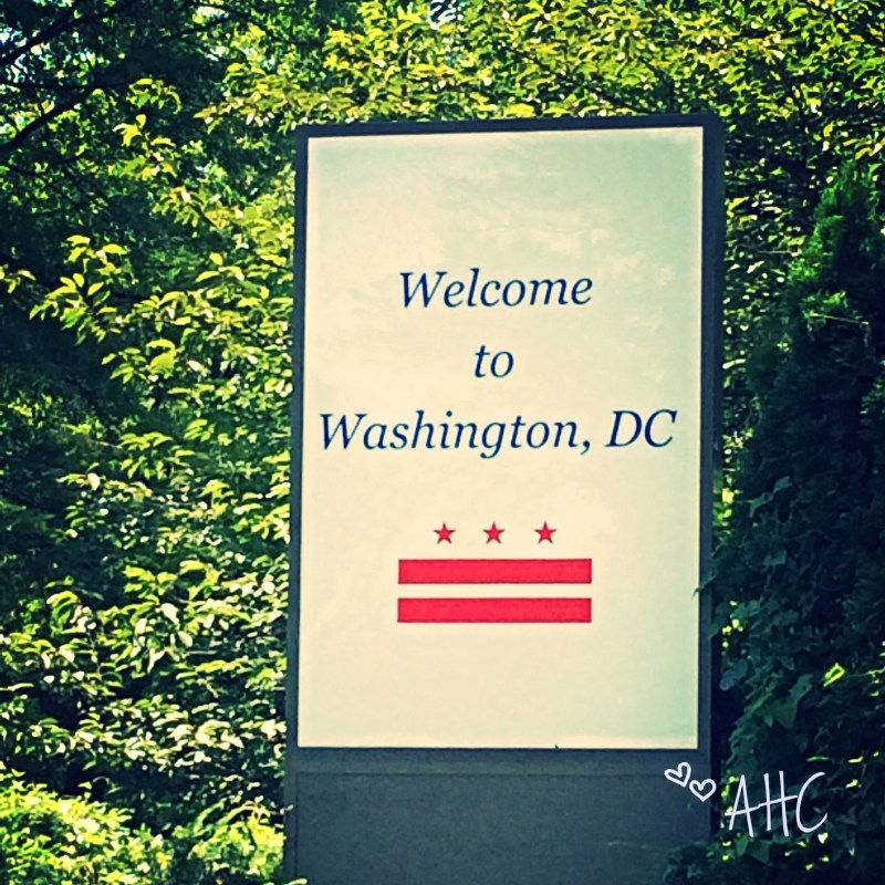 Welcome to Washington DC State Sign