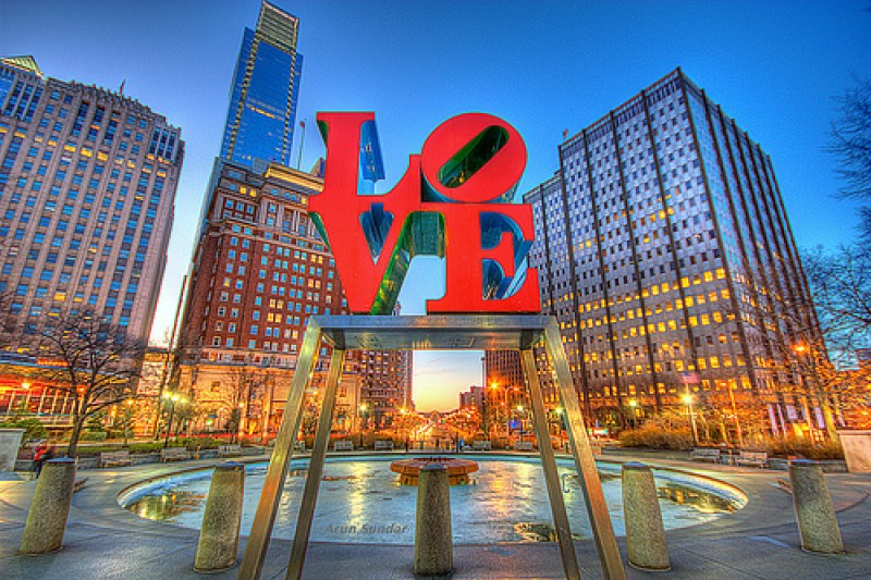 Love Park is a must do when visiting Pennsylvania