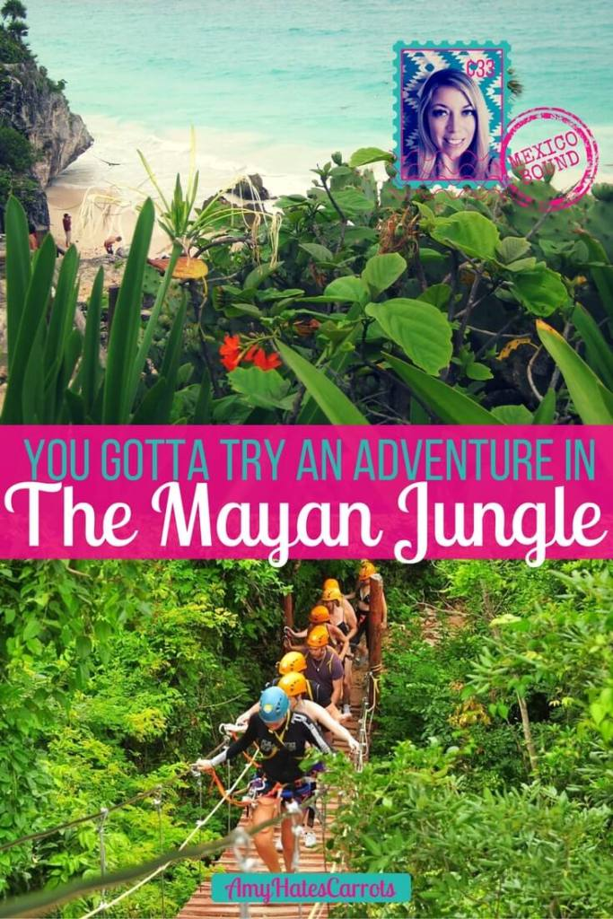 You gotta try a Mayan Jungle Adventure when traveling to Cancun & Playa del Carmen. It is amazing & unforgettable!