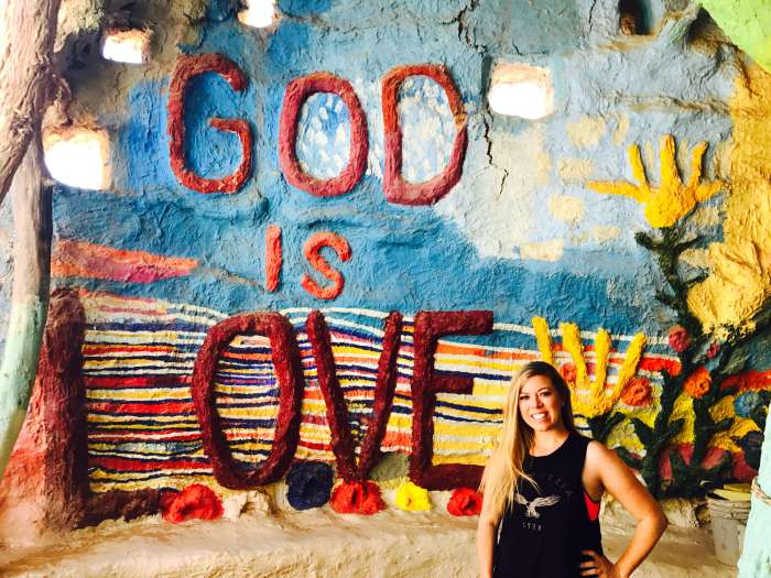Amy Hates Carrots at Salvation Mountain | About 1.5 hours outside of Palm Springs is the manmade rainbow-colored site called Salvation Mountain. It is a must see that will truly capture your heart.