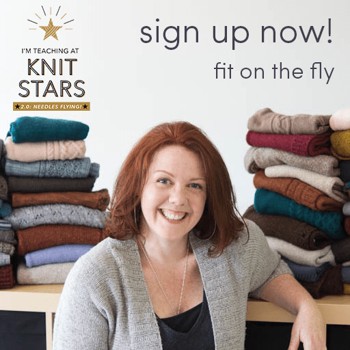 Amy is teaching at Knit Stars 2.0