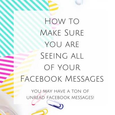 """Facebook Messenger has a """"secret"""" folder that houses messages that can appear spammy. Here is How to Make Sure you are Seeing all of your Facebook Messages."""