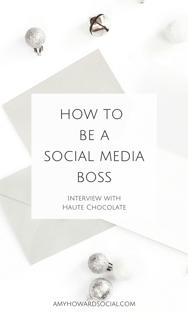 Want to learn how to be a social media boss? Take a look at this interview from the founder of the Haute Chocolate Stock Library! She's spilling the beans!