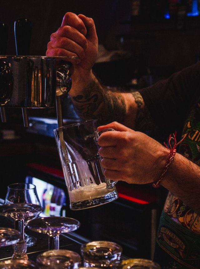 Amy Jean Blog - Things Great Poem - Bartender Pouring Drinks