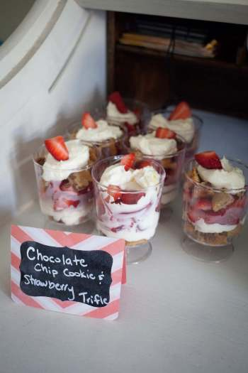 Chocolate Chip Cookie and Strawberry Trifle
