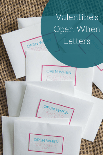 Valentine's Open When Letters