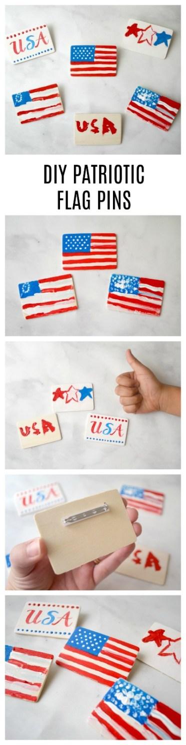 DIY Patriotic Flag Pins