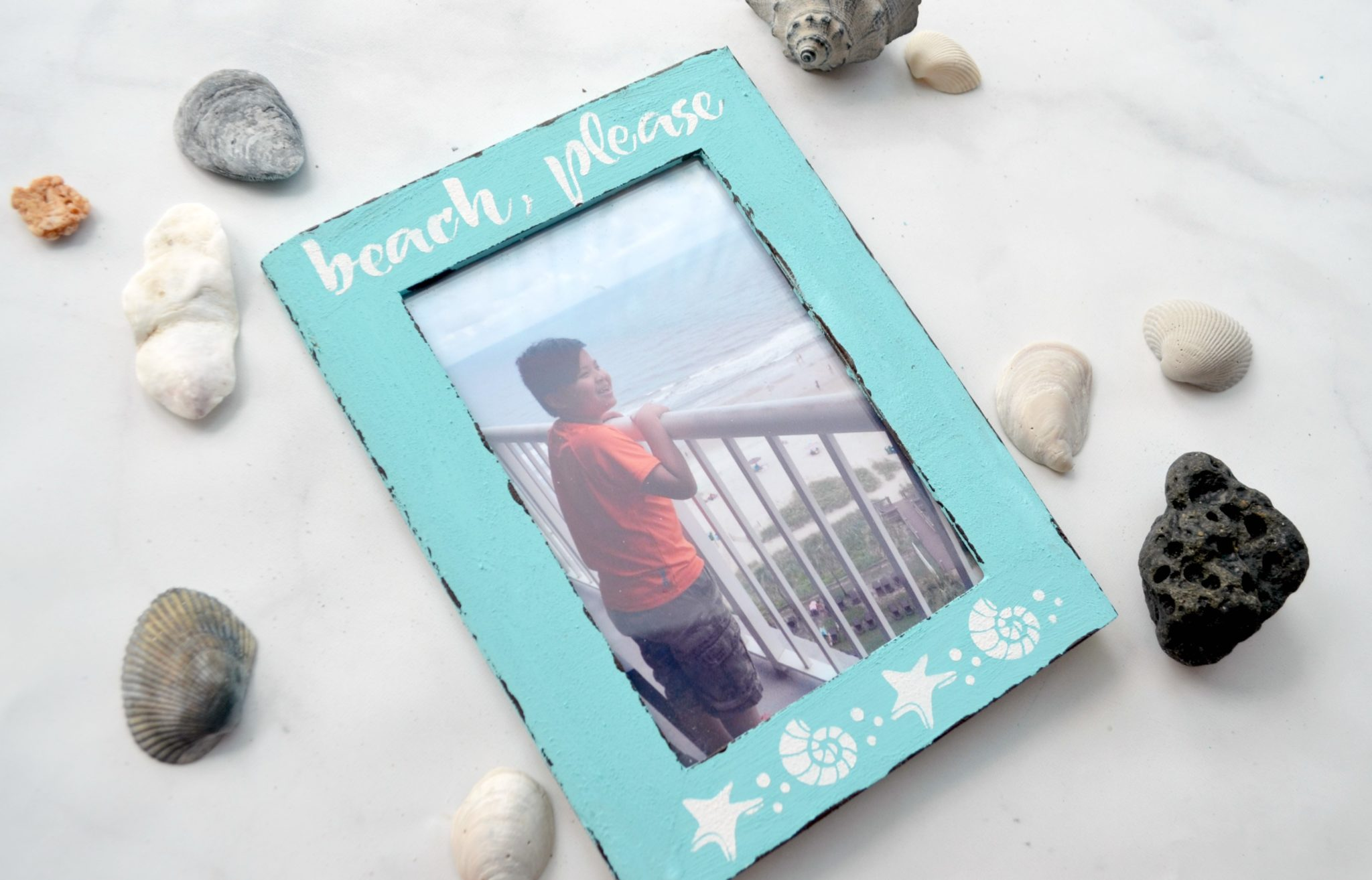 Coastal Beach Photo Frame