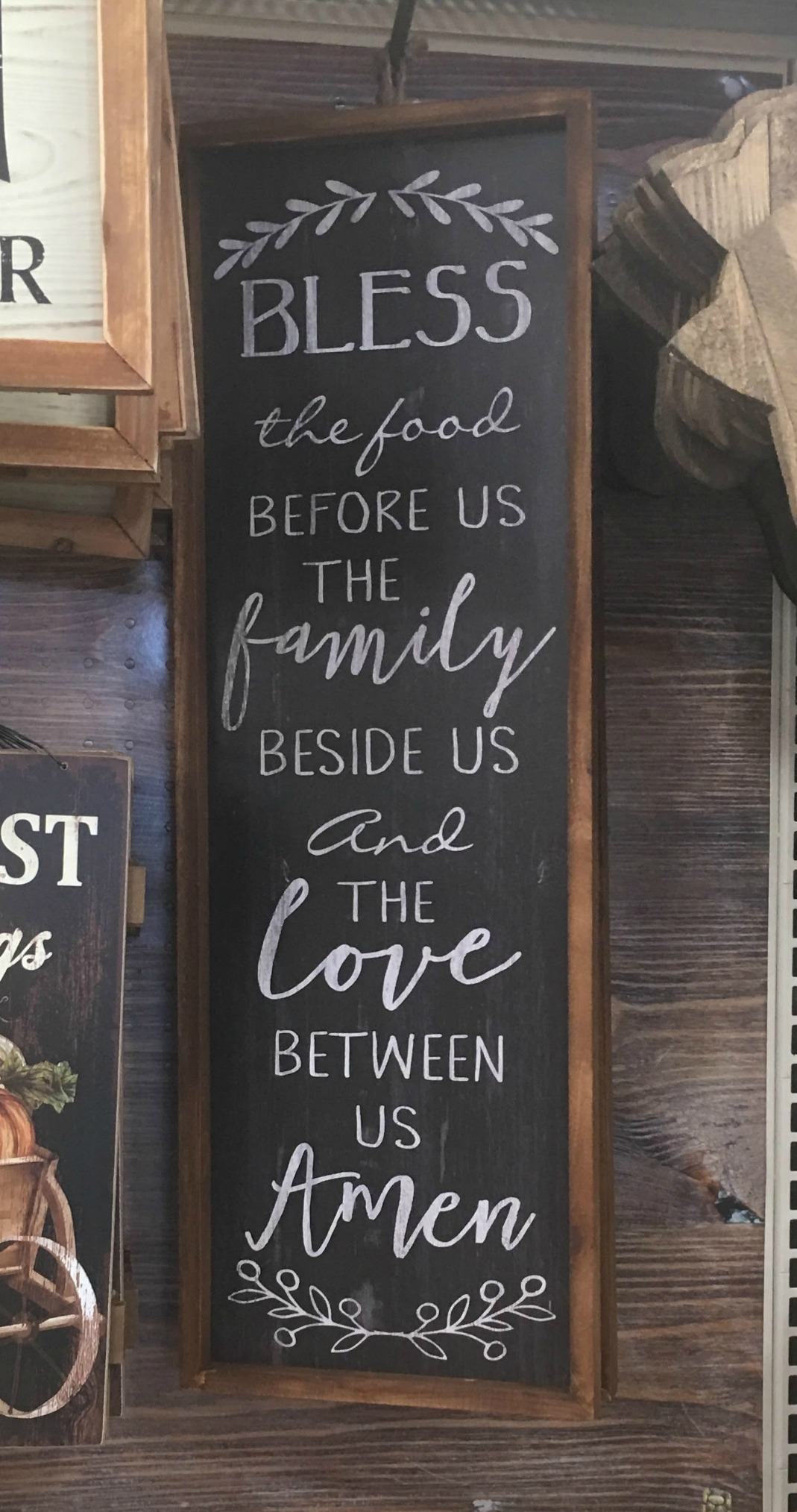 image relating to Bless the Food Before Us Printable titled Hand Lettered Wall Artwork Cost-free Printable - Amy Latta Creations