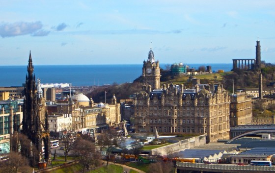 Blue skies over Edinburgh. Don't panic; it's not a sign of the Apocalypse...apparently.