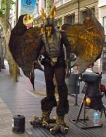 Las Ramblas street performer