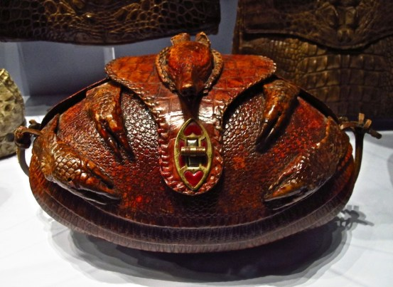 This armadillo is not amused--but it is a handbag.