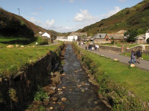 The stream through the heart of Boscastle