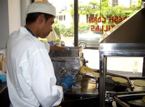 Tortillas are made fresh daily at Taqueria.
