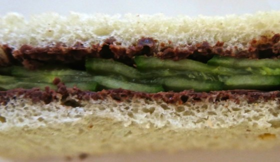 Chocolate and Cucumber Sandwich. The proof is in the pudding.