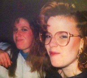 Michelle (right) with our friend Katie in high school