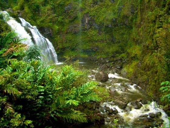 Waikani Falls on the road to Hana