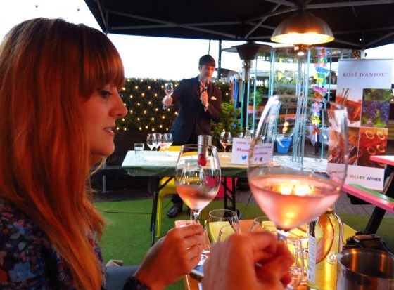 Lucie Kerley of lucieloves.co.uk gives her glass a swirl as Douglas Blyde shares his top wine-tasting tips.