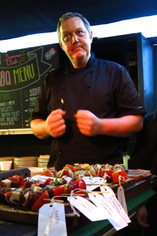 Chef Daniel Ashley of the Queen of Hoxton is raring to go.