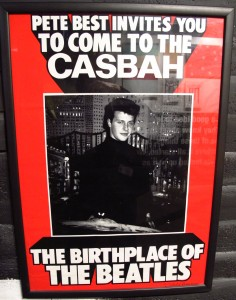 An original Casbah Club poster, on display at The Beatles Story