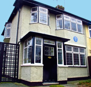 John Lennon and Paul McCartney used to practice their songs on the tiny enclosed porch of 251 Menlove Avenue.