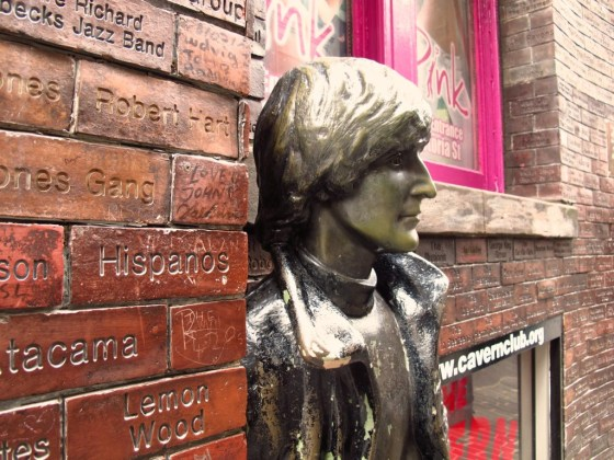 Watch where you walk in Liverpool, or you're likely to tread on a Beatle. This is John, or a close facsimile there-of.