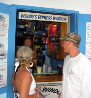 Woody's walk-up bar in Cruz Bay, St. John