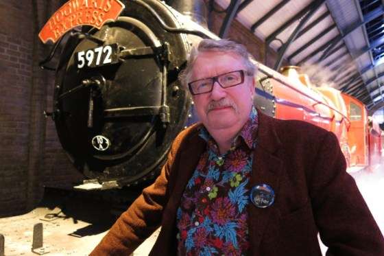"""Mark Williams, also known as """"Mr. Weasley,"""" with the Hogwarts Express"""