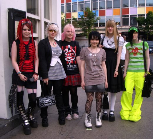 Girls in Doc Martens and funky shoes in London's Notting Hill