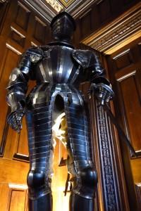 suit of armor in lobby of Ashford Castle