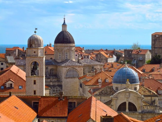 Domed churches of Dubrovnik views from city walls