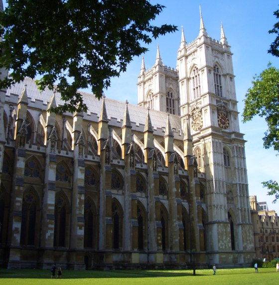 Westminster Abbey side view