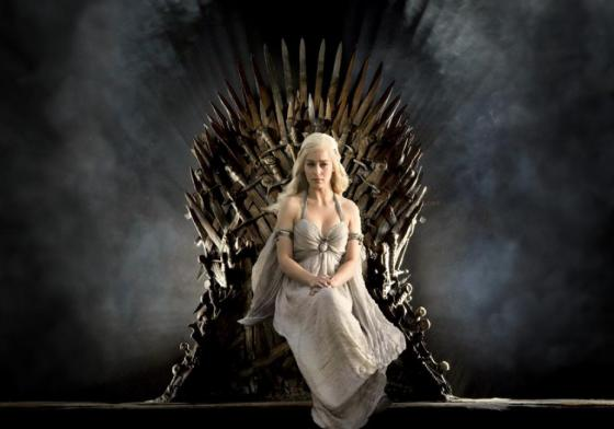 """Game of Thrones"" promotional shot of Emilia Clarke as Daenerys Targaryen."