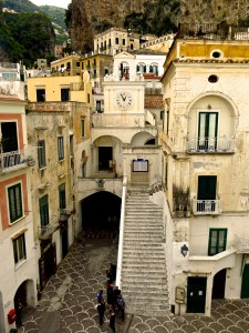 The village of Atrani on the Amalfi Coast