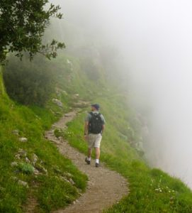 Misty morning on the Sentiero Degli Dei, the Path of the Gods