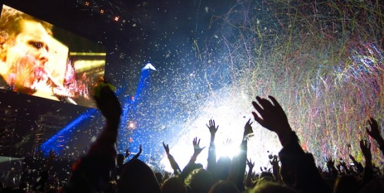 The crowd goes wild for Muse, performing at Glastonbury Festival 2016. Photo by Amy Laughinghouse.