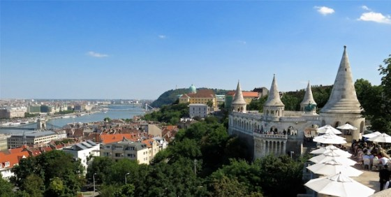 Looking south along the Danube River towards Fisherman's Bastion.