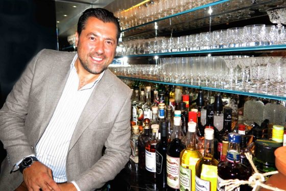 Giancarlo Mancini has introduced his own line of bespoke spirits and custom-designed glassware to The Athenaeum. Copyright Amy Laughinghouse.
