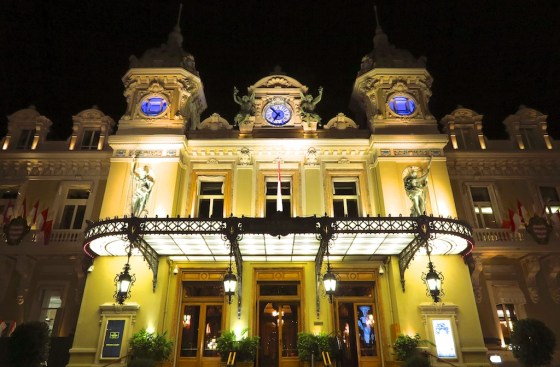 exterior of Monte-Carlo Casino by night. © Amy Laughinghouse.