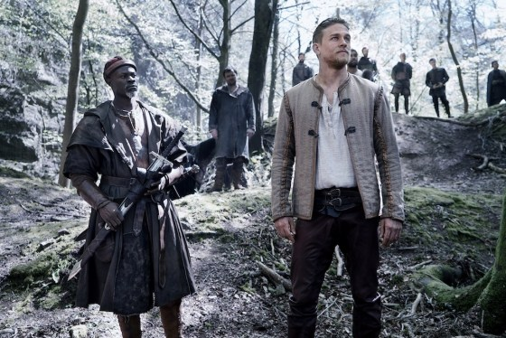 Djimon Hounsou as Bedivere and Charlie Hunnam as Arthur in Guy Ritchie's King Arthur: Legend of the Sword