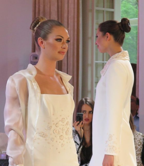 Detailed tailoring and clean, classic lines reigned at Isabell Kristensen's 2017 Royal Ascot Couture Collection catwalk show.
