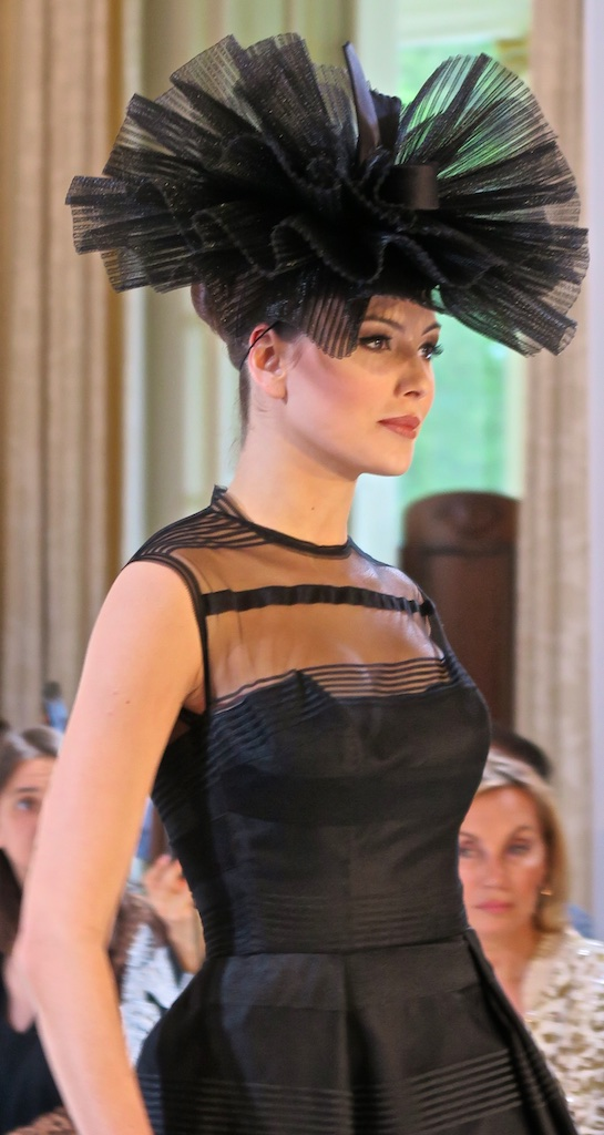 Isabell Kristensen's ruffled black hat proves the frill is not gone when it comes to Royal Ascot fashion.