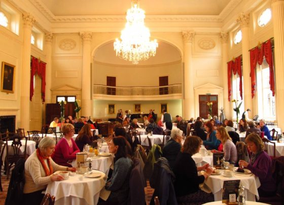 The Pump Room in Bath still serves afternoon tea, just as it did in Jane Austen's day.